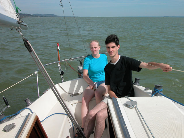 Claire and Steve sailing