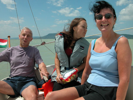 Sailing on Lake Balaton