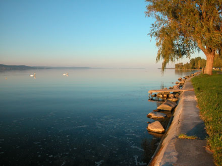 Walking by the Balaton lakeside